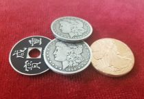MORGAN DOLLAR COPPER SILVER BRASS SILVER EDGE EDITION