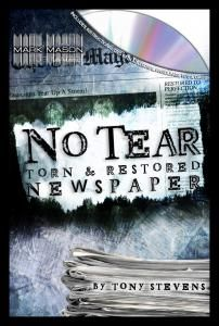 NO TEAR TORN AND RESTORED NEWSPAPER BY TONY STEVENS