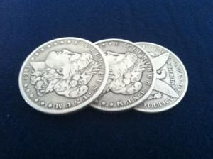 TRICEPTION COIN SET MORGAN DOLLAR BY BOB SWADLING & MARK MASON